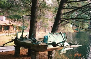 Weed cutter on Dream Lake 1999 (3)